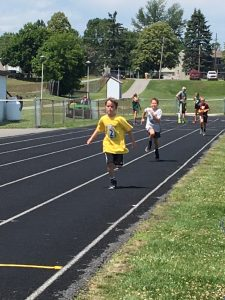 Children Running track and field events